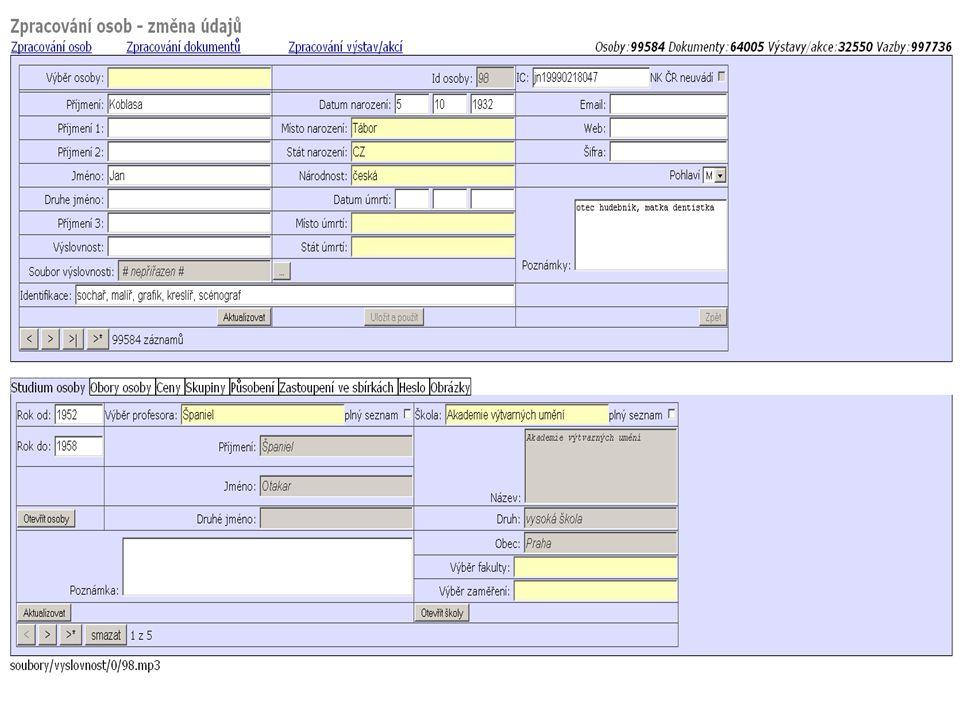 IC NK a NKN v budoucnu umožní propojit osoby v abARTu s Databází národních autorit NK ČR a s jinými databázemi