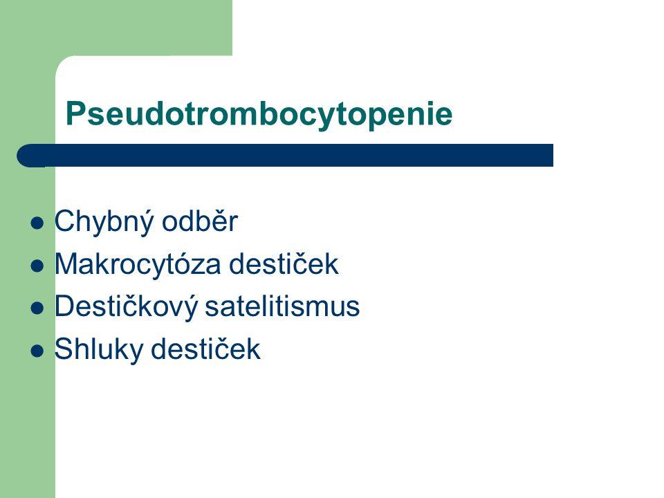Pseudotrombocytopenie