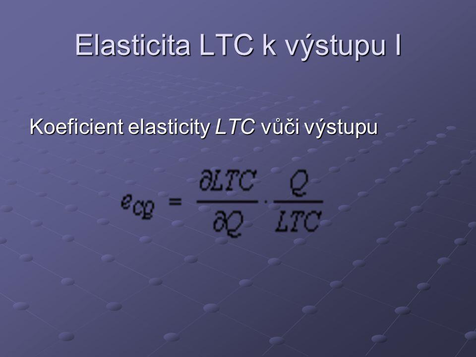 Elasticita LTC k výstupu I Koeficient elasticity LTC vůči výstupu