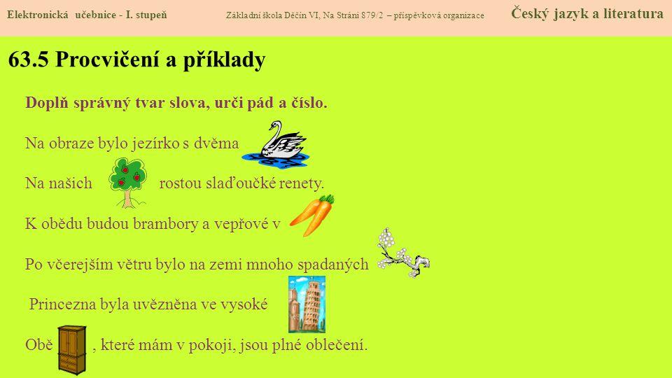 63.5 Procvičení a příklady Elektronická učebnice - I.