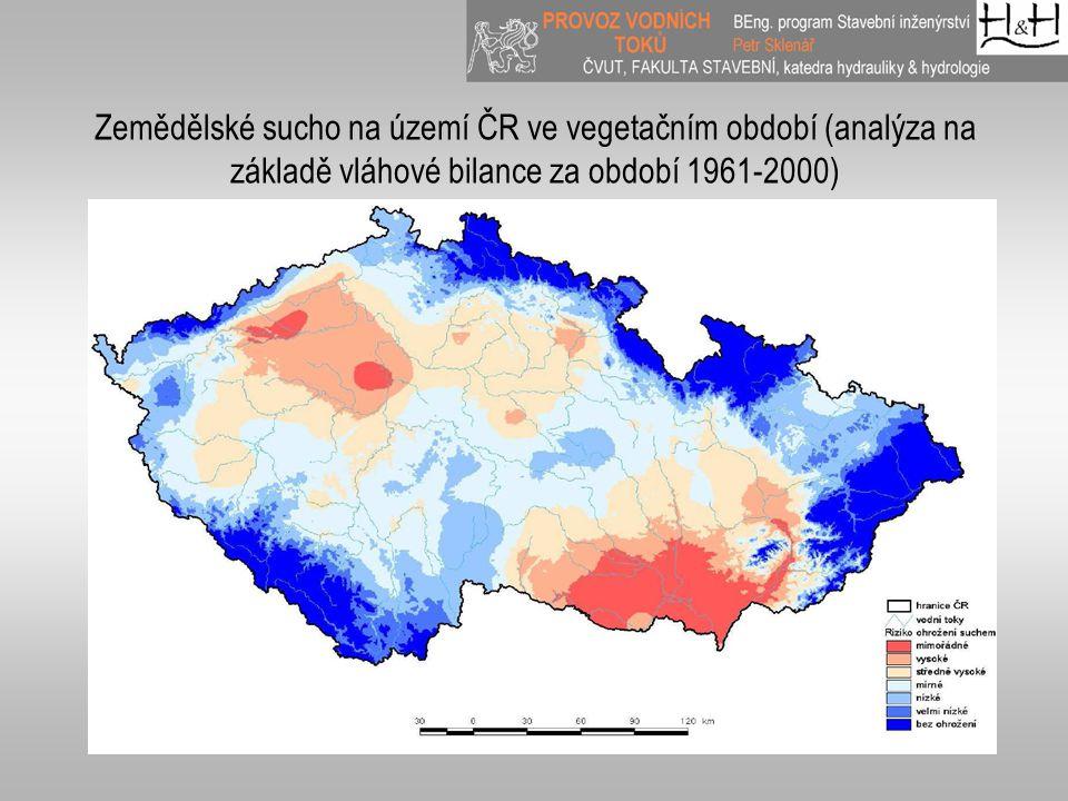 Zemědělské sucho na území ČR ve vegetačním období (analýza na základě vláhové bilance za období 1961-2000)