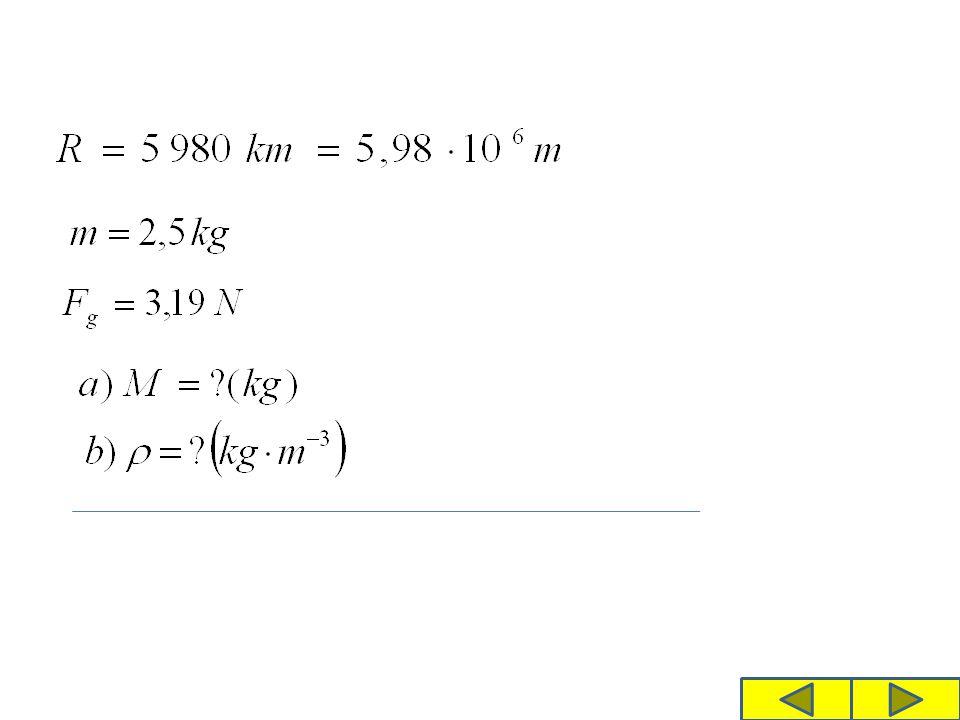 Řešení a) Při řešení vycházíme z Newtonova gravitačního zákona.
