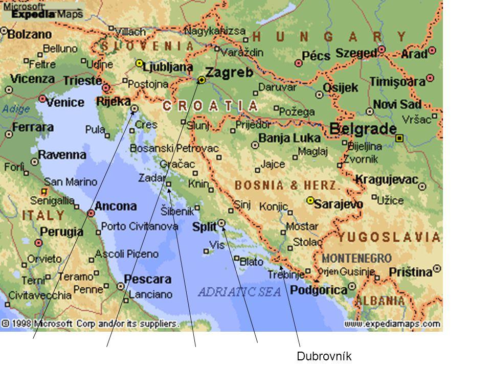Základní charakteristika Oficiální název státu: Chorvatská republika (Republika Hrvatska) Hlavní město: ZagrebZagreb Rozloha: pevnina 56.542 km2, teritoriální moře cca 31.067 km2 Pobřeží: 5,835km, velmi členité (2.