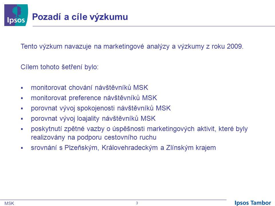 MSK 3 Pozadí a cíle výzkumu Tento výzkum navazuje na marketingové analýzy a výzkumy z roku 2009.