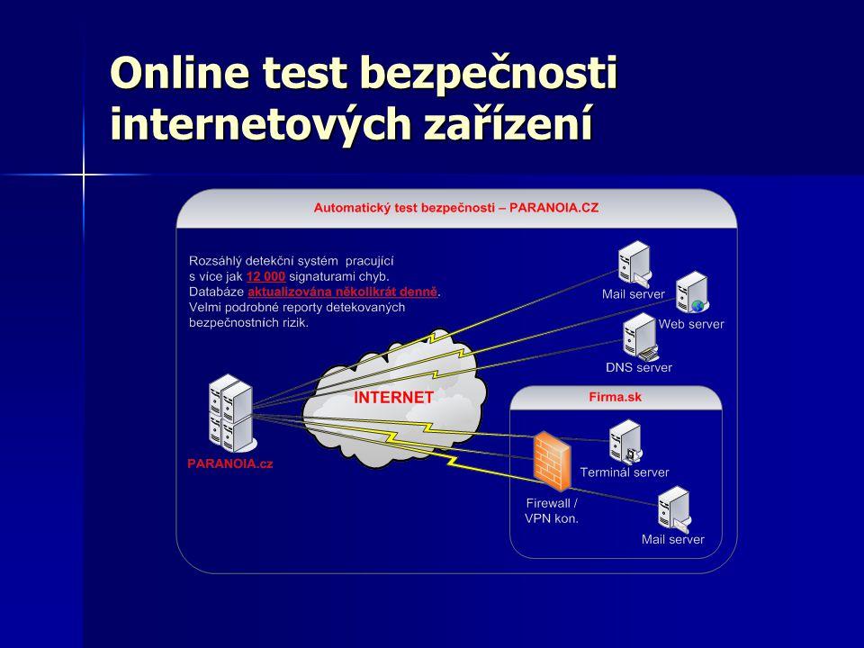 Online test bezpečnosti internetových zařízení