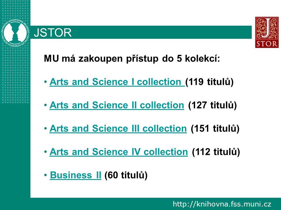 """http://knihovna.fss.muni.cz JSTOR vzdálený přístup http://www.jstor.org při exportu z databáze JSTOR do aplikace EndNote Web je zapotřebí zvolit filtr """"JSTOR"""