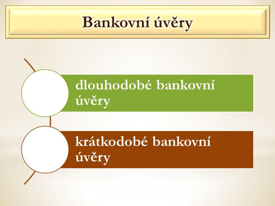 dlouhodobé bankovní úvěry krátkodobé bankovní úvěry