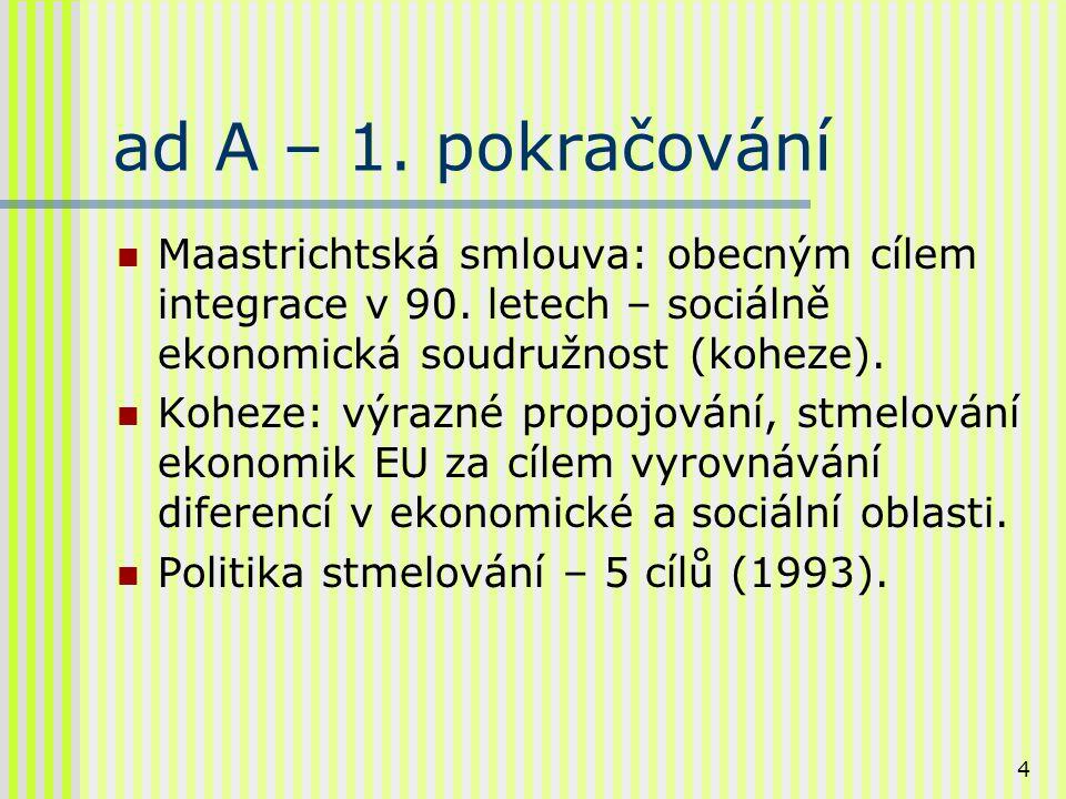 5 ad B – Sociálně ekonomická konvergence v 90.