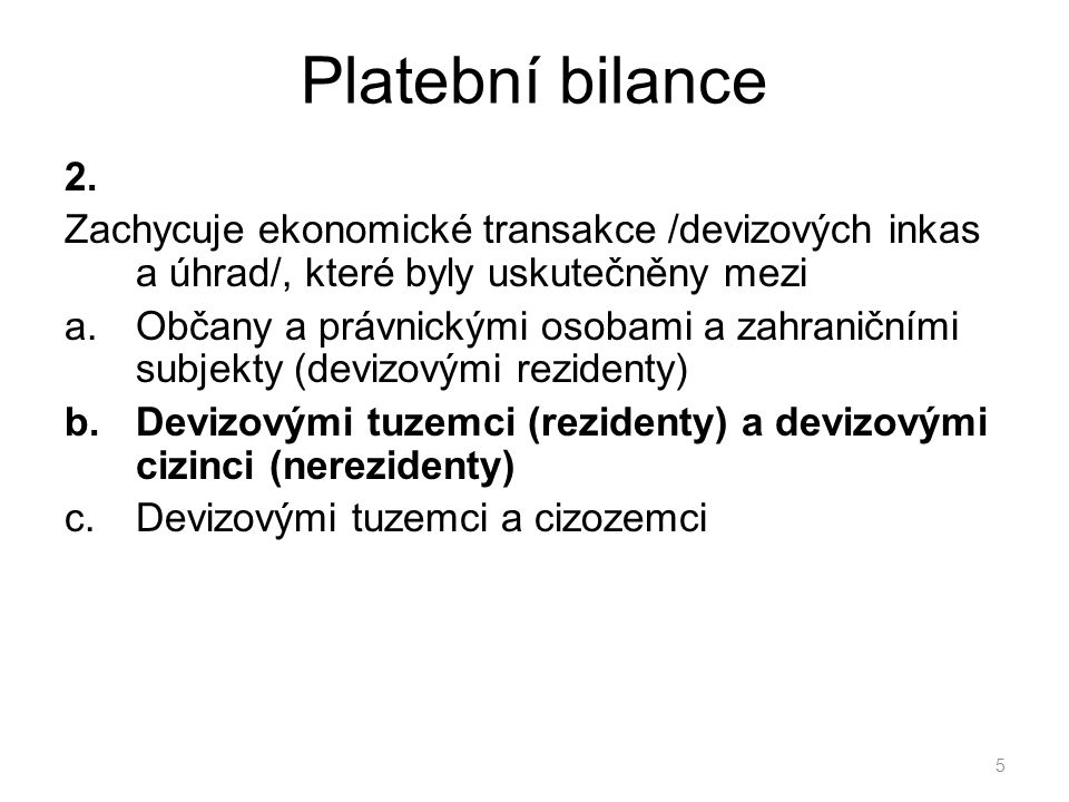 Platební bilance 2.