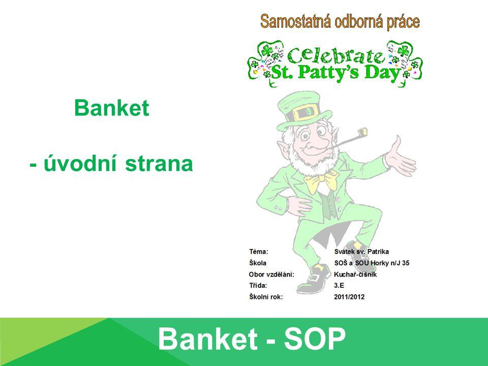 Banket - úvodní strana