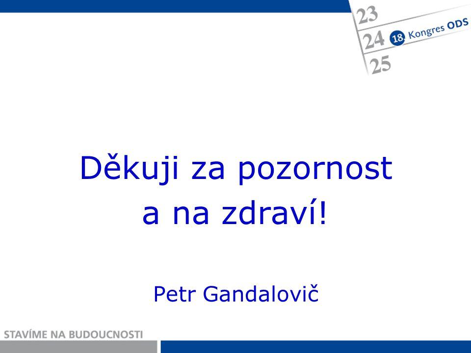 Děkuji za pozornost a na zdraví! Petr Gandalovič