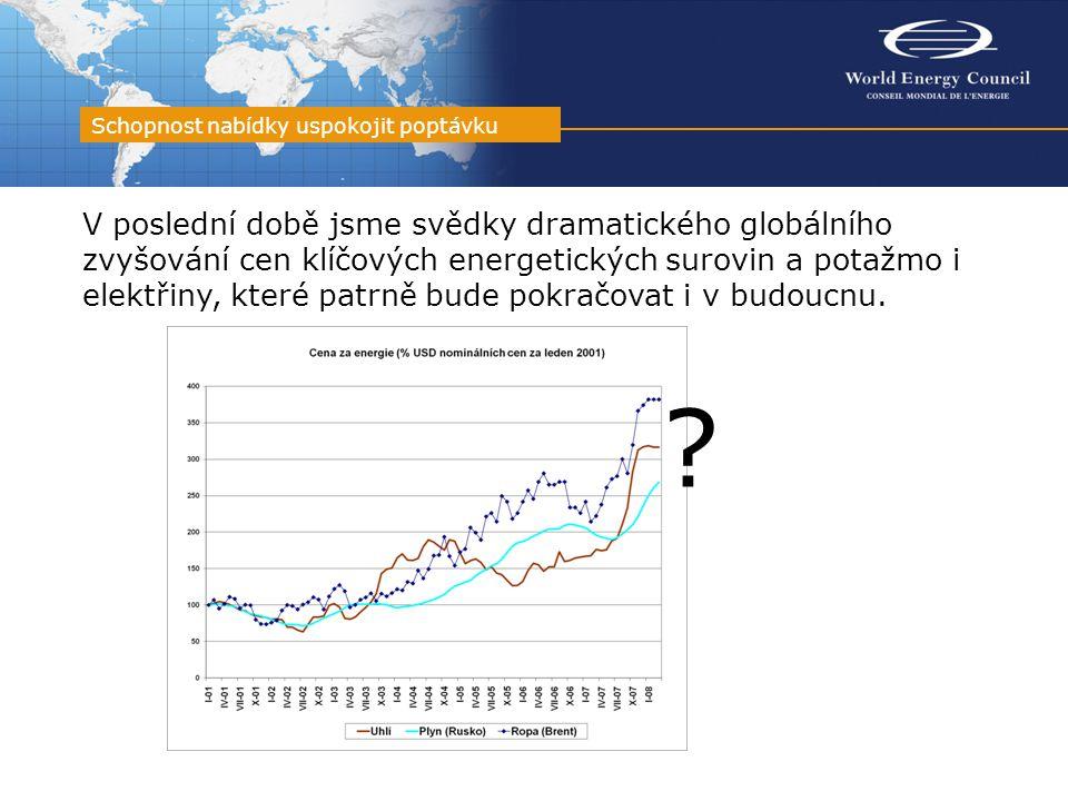 V poslední době jsme svědky dramatického globálního zvyšování cen klíčových energetických surovin a potažmo i elektřiny, které patrně bude pokračovat