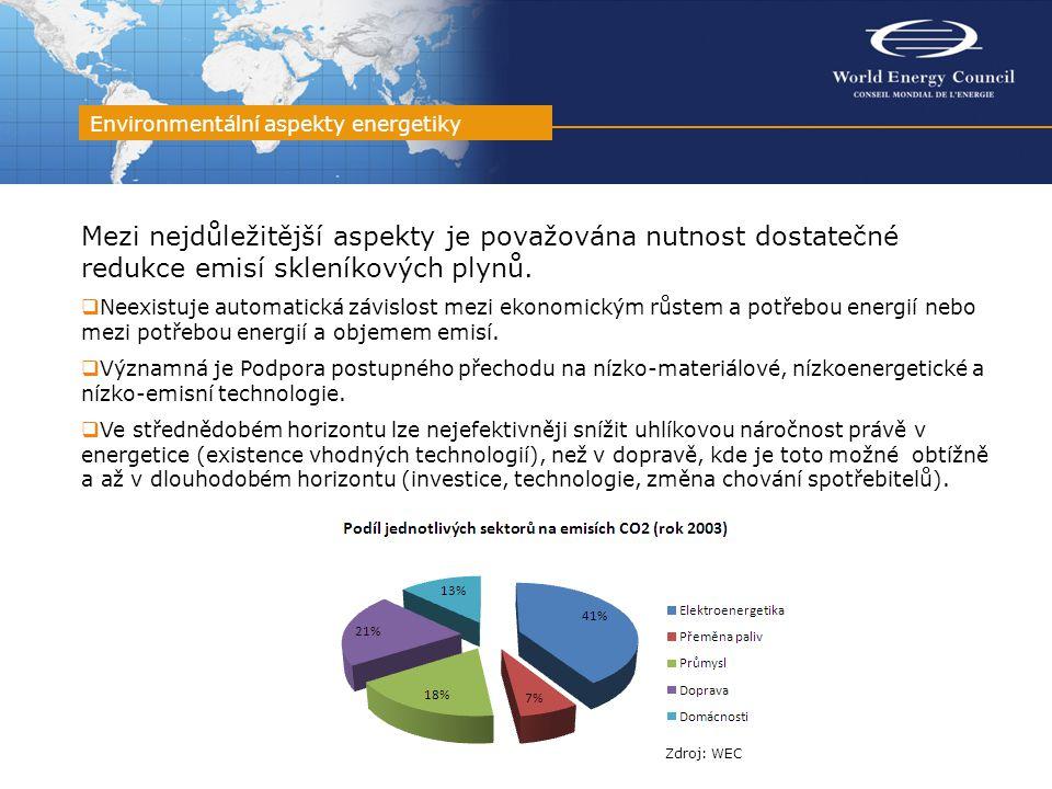 Mezi nejdůležitější aspekty je považována nutnost dostatečné redukce emisí skleníkových plynů.