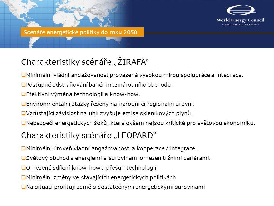 """Charakteristiky scénáře """"ŽIRAFA  Minimální vládní angažovanost provázená vysokou mírou spolupráce a integrace."""