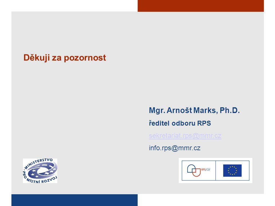 Děkuji za pozornost Mgr. Arnošt Marks, Ph.D.