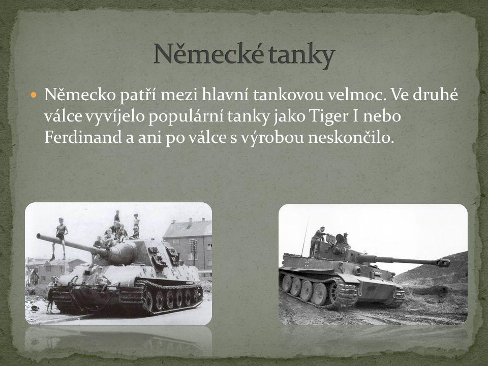 Německo patří mezi hlavní tankovou velmoc.