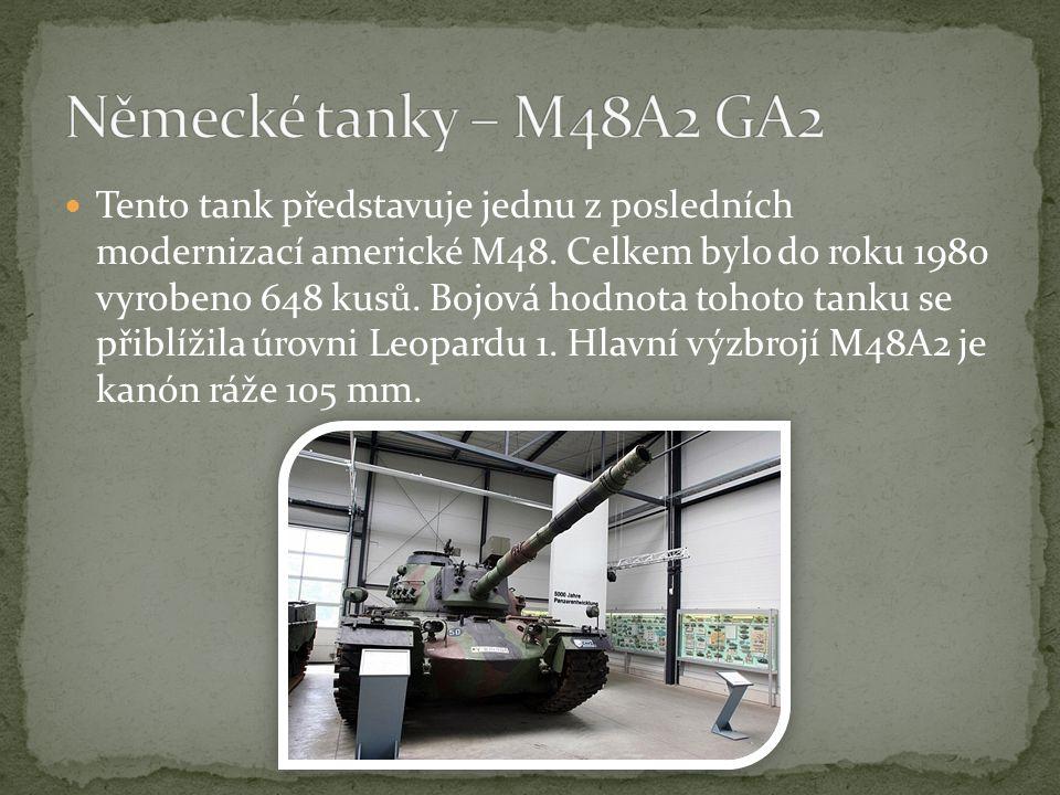 Tento tank představuje jednu z posledních modernizací americké M48.