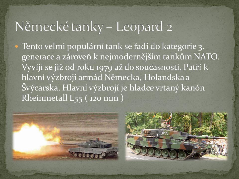 Tento velmi populární tank se řadí do kategorie 3.