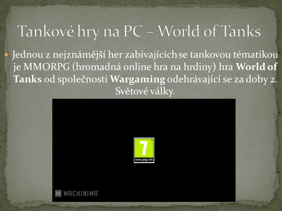 Jednou z nejznámější her zabívajících se tankovou tématikou je MMORPG (hromadná online hra na hrdiny) hra World of Tanks od společnosti Wargaming odehrávající se za doby 2.