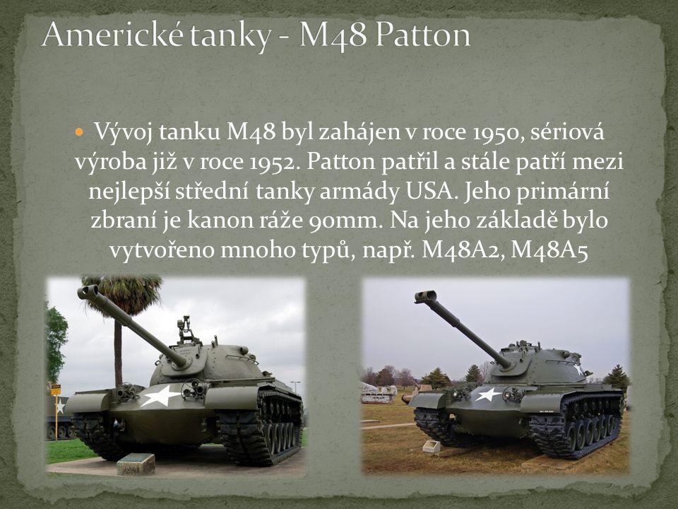 Vývoj tanku M48 byl zahájen v roce 1950, sériová výroba již v roce 1952.