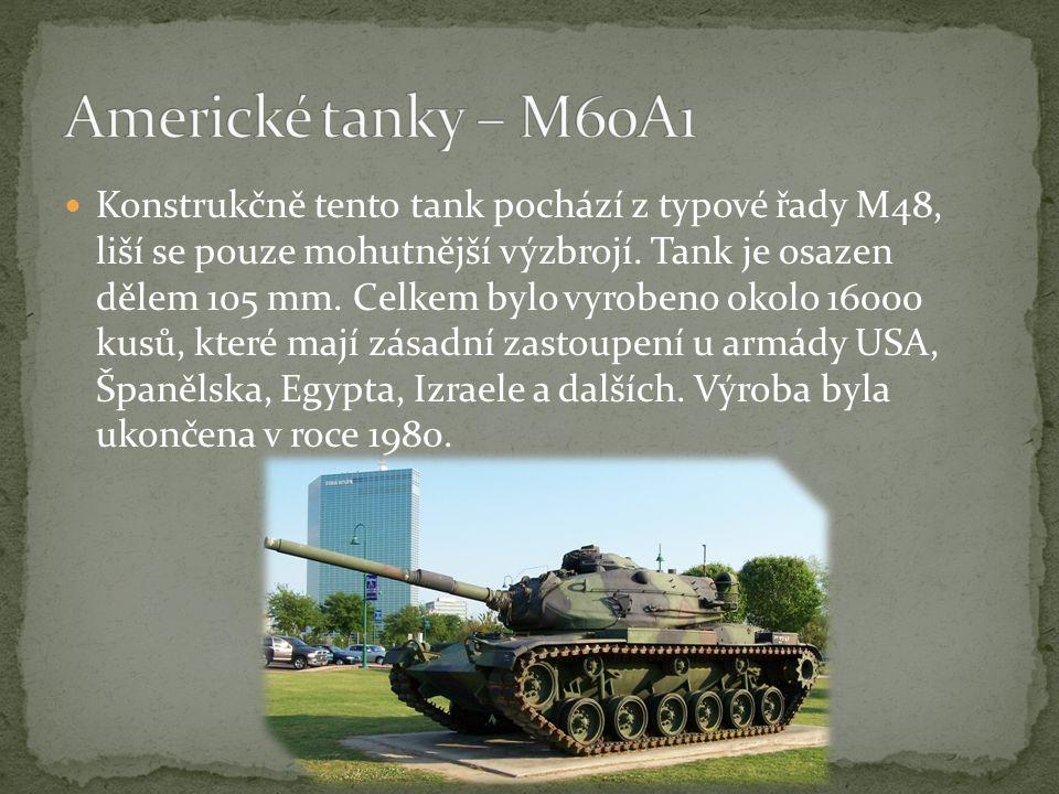 Konstrukčně tento tank pochází z typové řady M48, liší se pouze mohutnější výzbrojí.