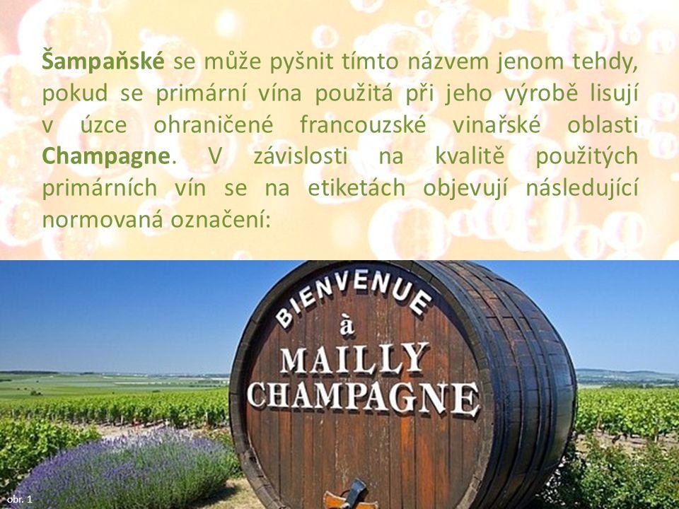 Šampaňské se může pyšnit tímto názvem jenom tehdy, pokud se primární vína použitá při jeho výrobě lisují v úzce ohraničené francouzské vinařské oblast