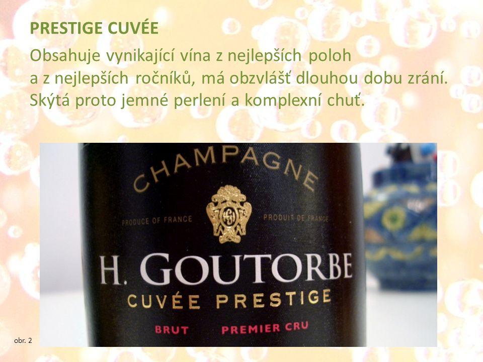 PRESTIGE CUVÉE Obsahuje vynikající vína z nejlepších poloh a z nejlepších ročníků, má obzvlášť dlouhou dobu zrání. Skýtá proto jemné perlení a komplex