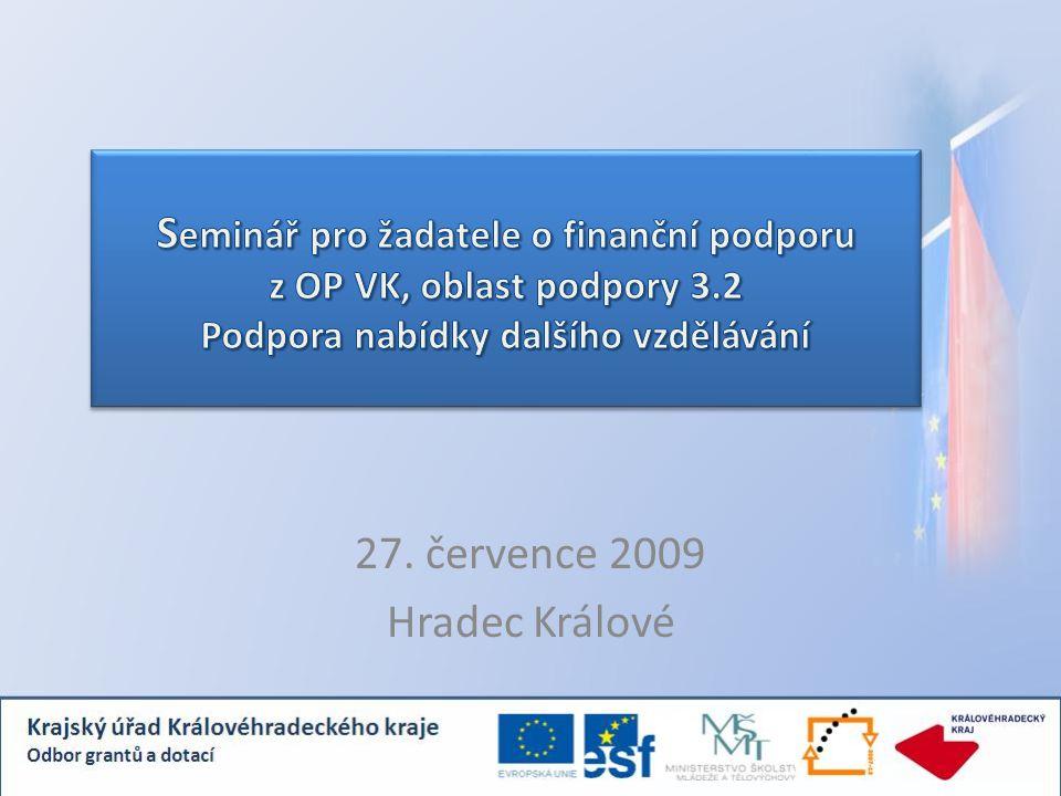 Program: 08.00 – 10.30: Projektová část – podporované aktivity, kritéria 1.