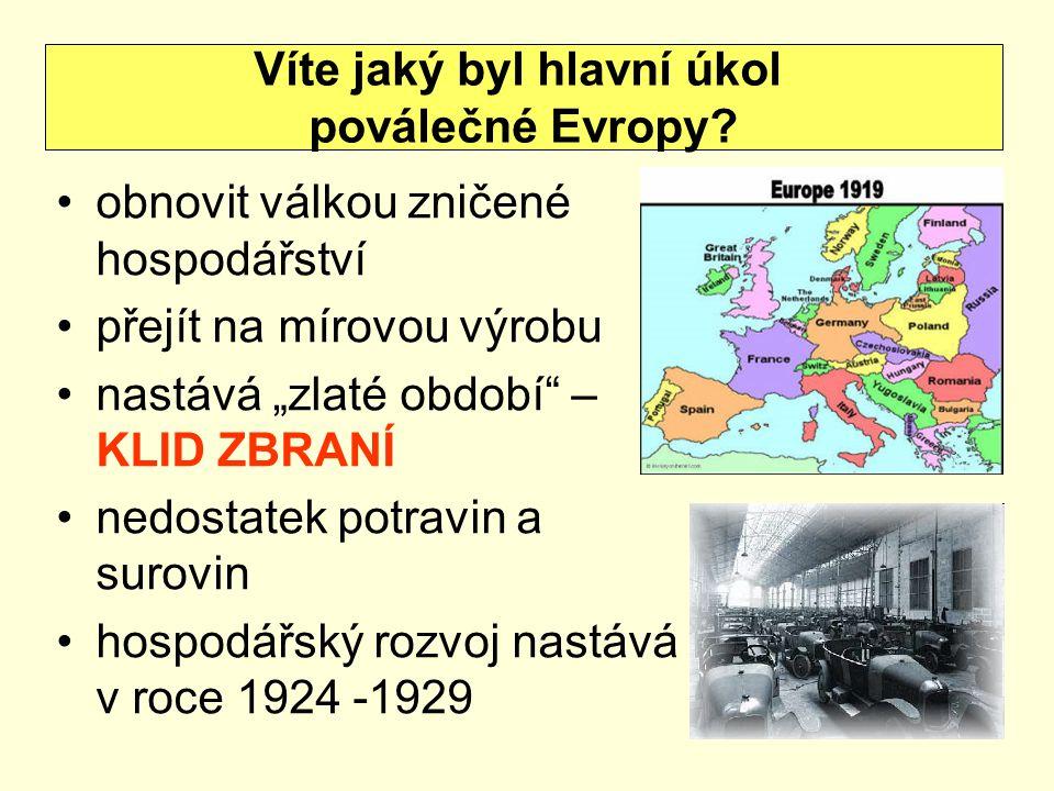 Konference v Janově – 1922  účast 28 států, bez USA a Turecka  poválečné hospodářství, reparace Německa  sblížení německé a sovětské delegace  smlouva v Rapallu – základ hospodářské spolupráce  Německo uznalo SSSR Víte co je to pacifistická éra?