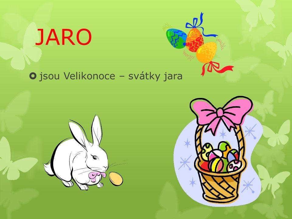 JARO  jsou Velikonoce – svátky jara