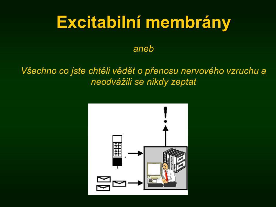 Excitabilní membrány aneb Všechno co jste chtěli vědět o přenosu nervového vzruchu a neodvážili se nikdy zeptat