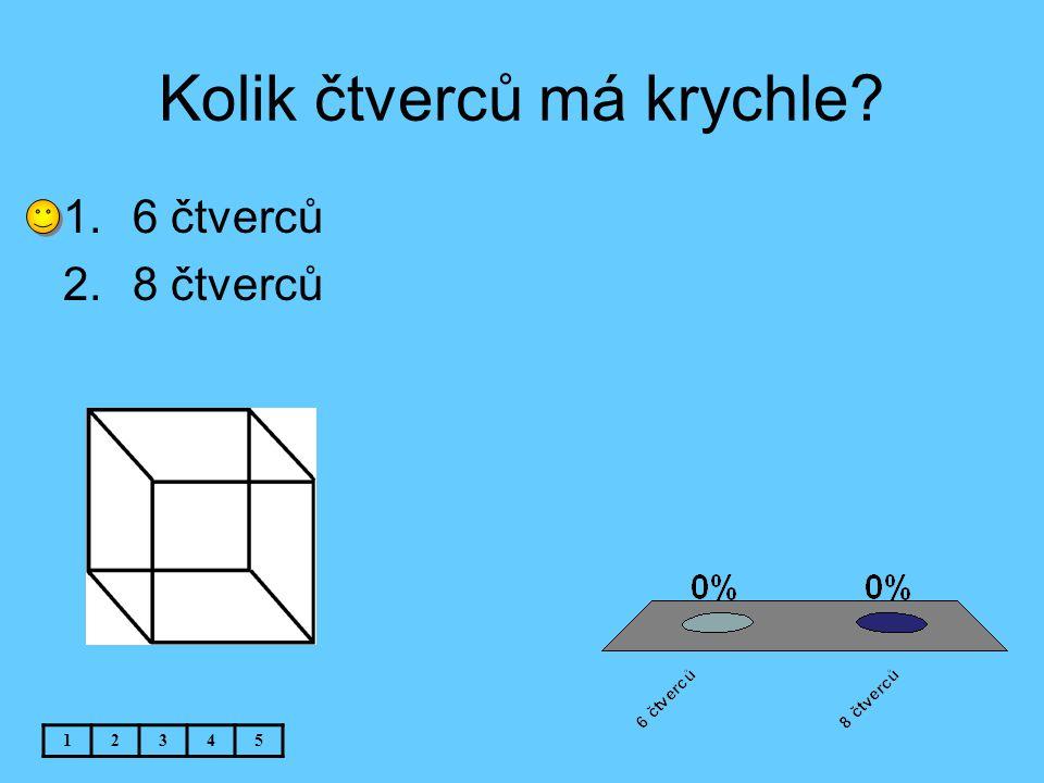 Kolik čtverců má krychle? 12345 1.6 čtverců 2.8 čtverců