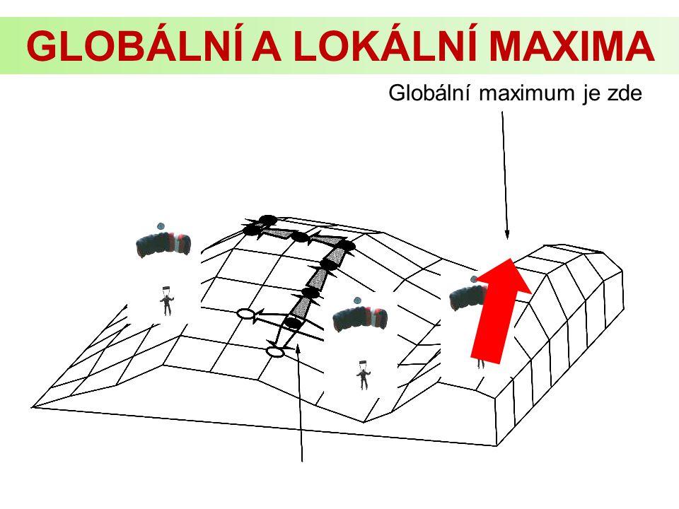Globální maximum je zde GLOBÁLNÍ A LOKÁLNÍ MAXIMA