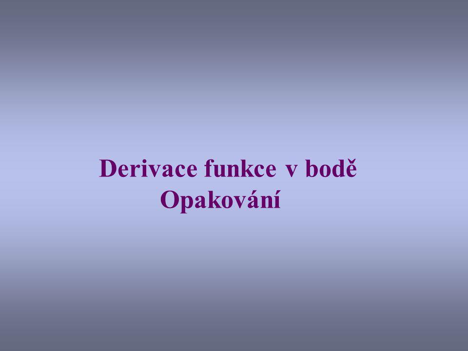 Vypočítejme derivaci funkce f(x) = x 2 Připomeňme si definici derivace funkce f(x) : Počítejme tedy derivaci naší funkce: