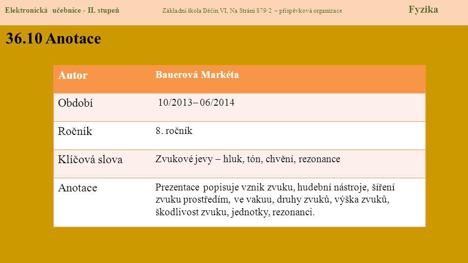 Elektronická učebnice - II.