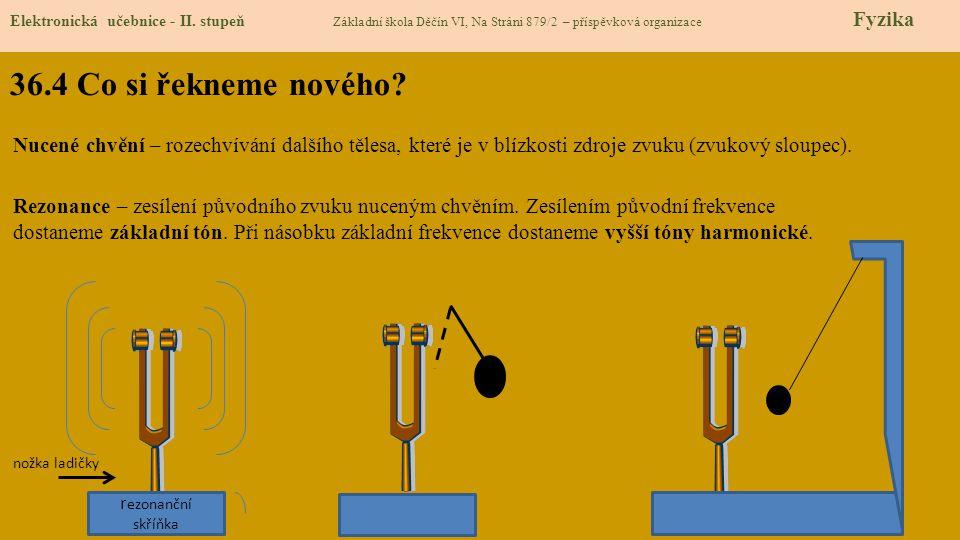 36.4 Co si řekneme nového.Elektronická učebnice - II.