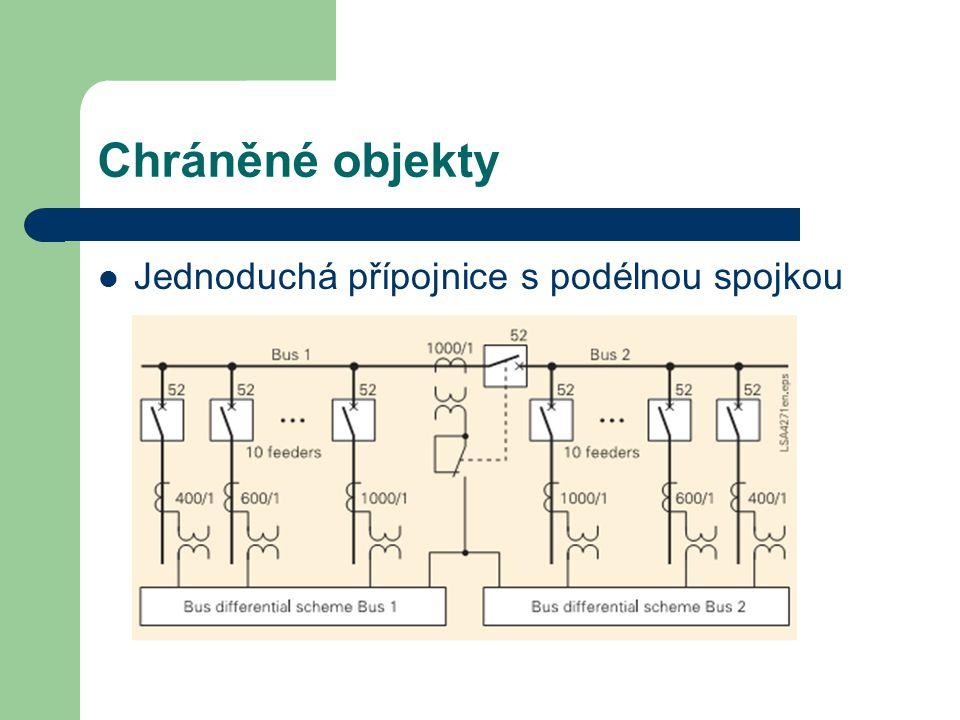 Chráněné objekty Jednoduchá přípojnice s podélnou spojkou