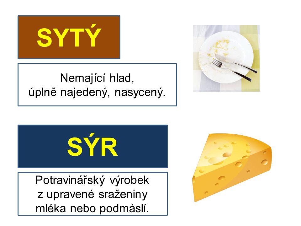 SYTÝ SÝR Potravinářský výrobek z upravené sraženiny mléka nebo podmáslí.