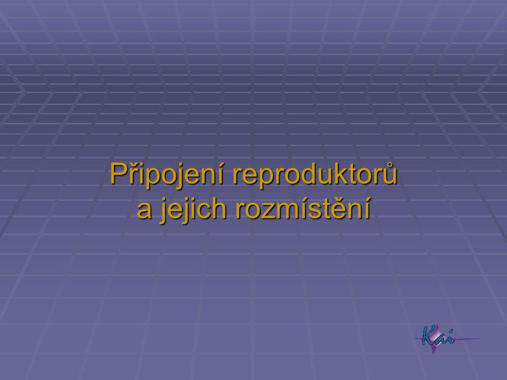 Připojení reproduktorů a jejich rozmístění
