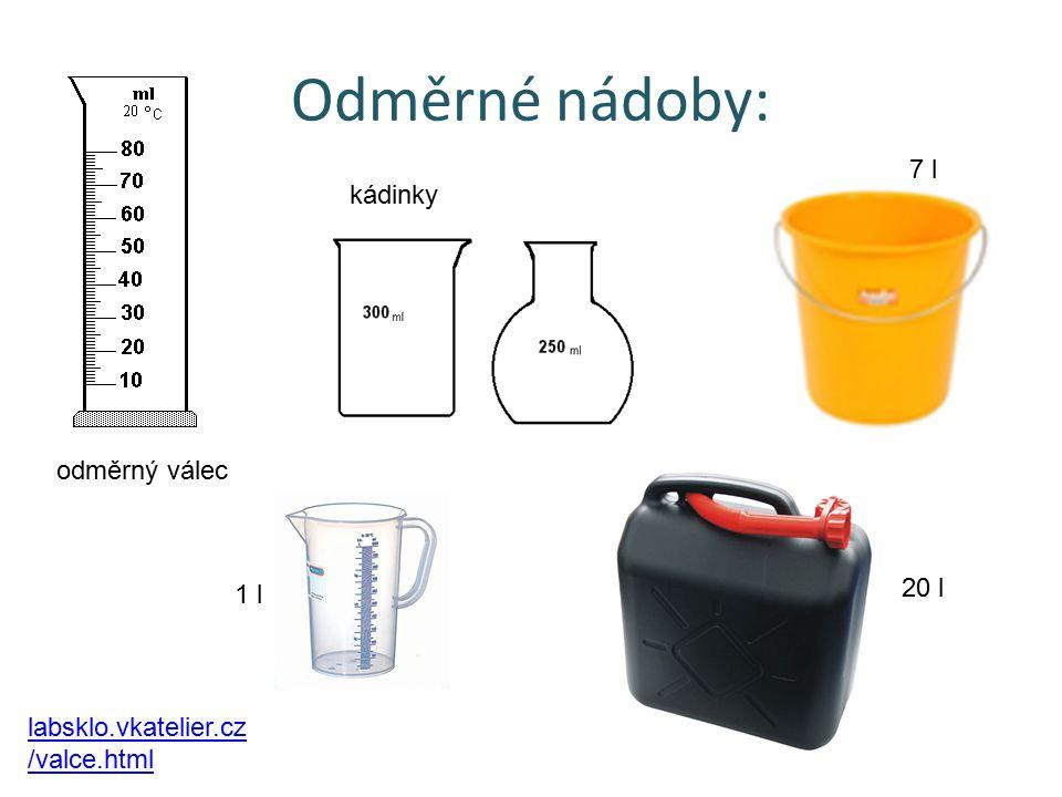 Odměrné nádoby: odměrný válec kádinky 20 l 7 l 1 l labsklo.vkatelier.cz /valce.html