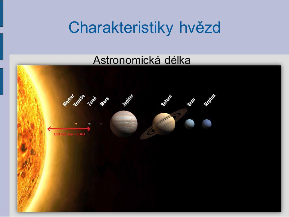 14 Charakteristiky hvězd Astronomická délka