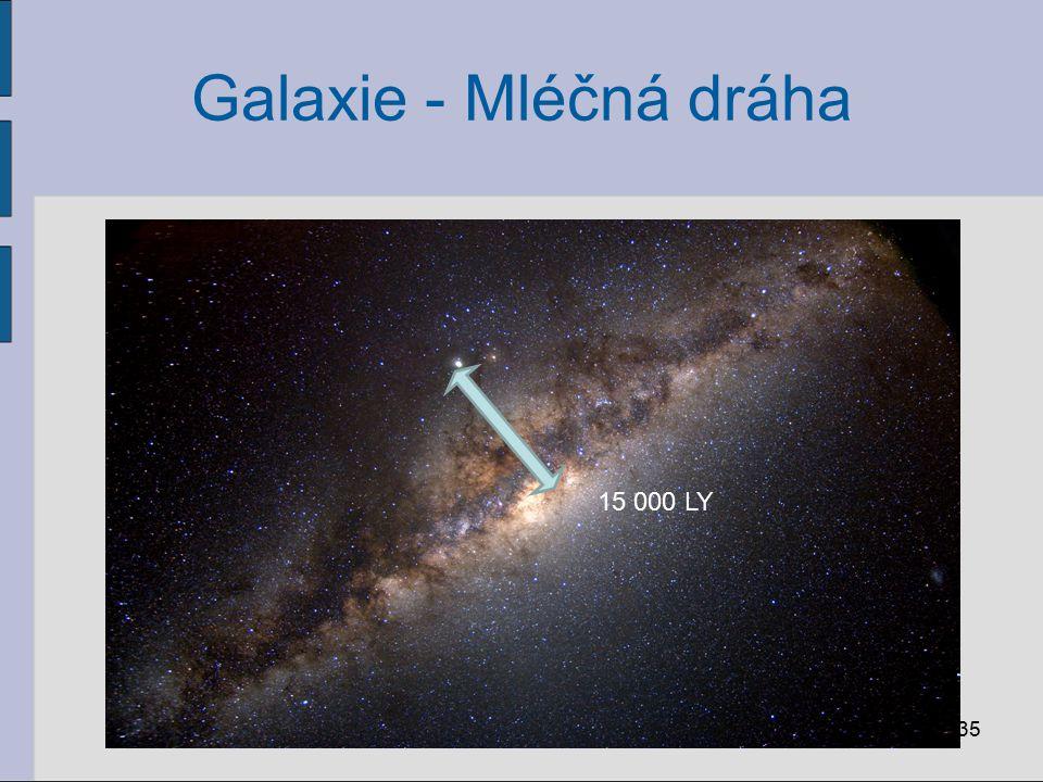 Galaxie - Mléčná dráha 35 15 000 LY