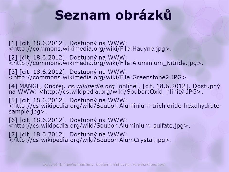 Seznam obrázků [1] [cit. 18.6.2012]. Dostupný na WWW:.