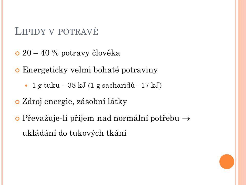 K ATABOLISMUS LIPIDŮ 1.