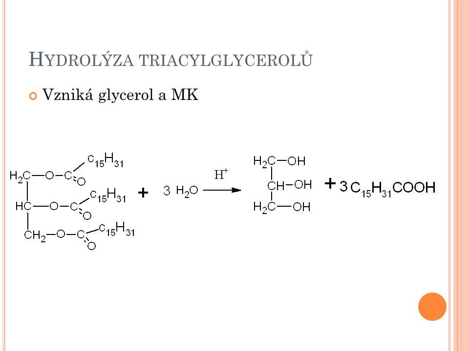 O DBOURÁNÍ GLYCEROLU Probíhá v játrech Převedení na triosafosfát glykolýza nebo syntéza hexos Glycerol Glycerol-3-fosfát Dihydroxyaceto nfosfát Obr.