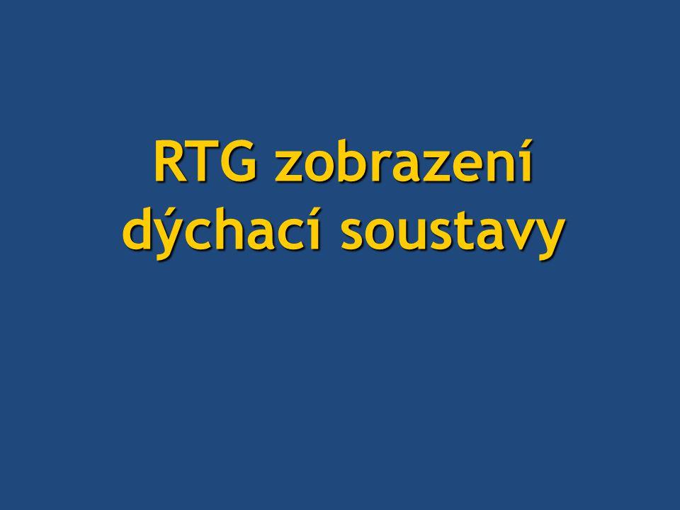 RTG zobrazení dýchací soustavy