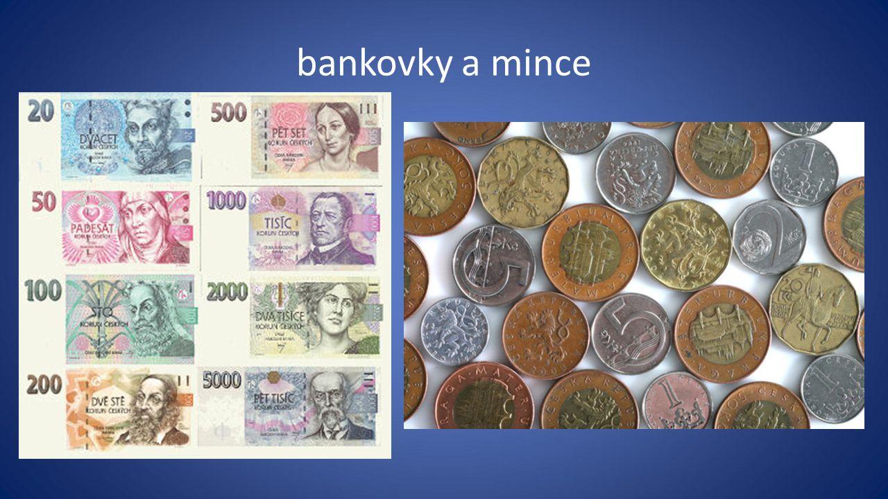 bankovky a mince
