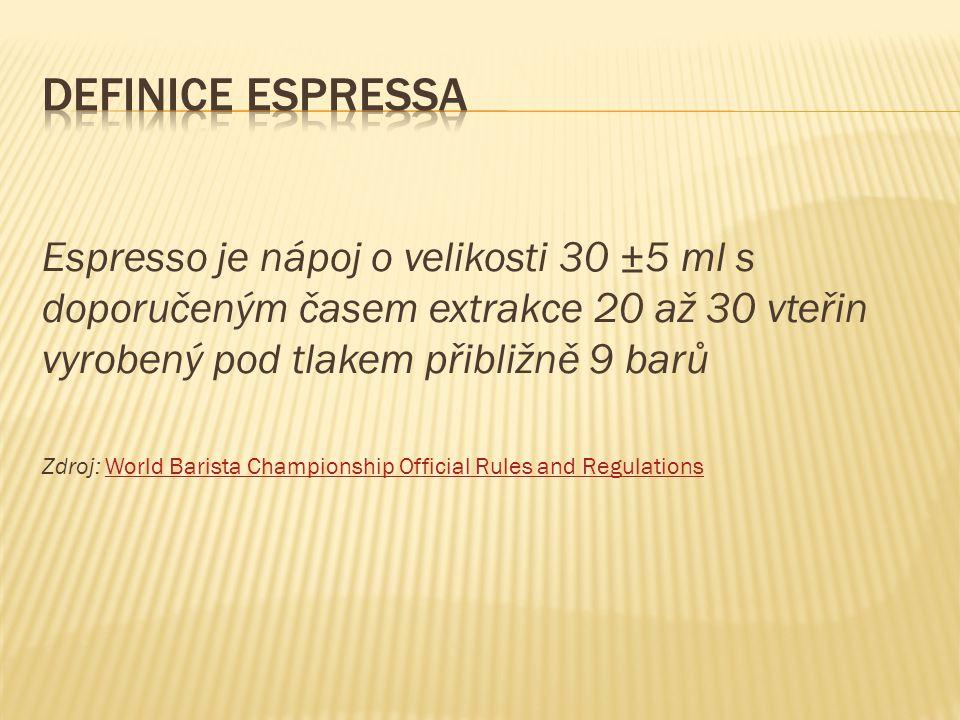  slovo macchiato znamená skvrnitý nebo tečkovaný  jedná o espresso s mléčnou pěnou vloženou do cremy lžičkou  moderní macchiato vypadá jako miniaturní cappuccino - espresso je ve svém 70 ml šálku doplněno až po okraj mléčnou pěnou  může být ozdobeno latte artem