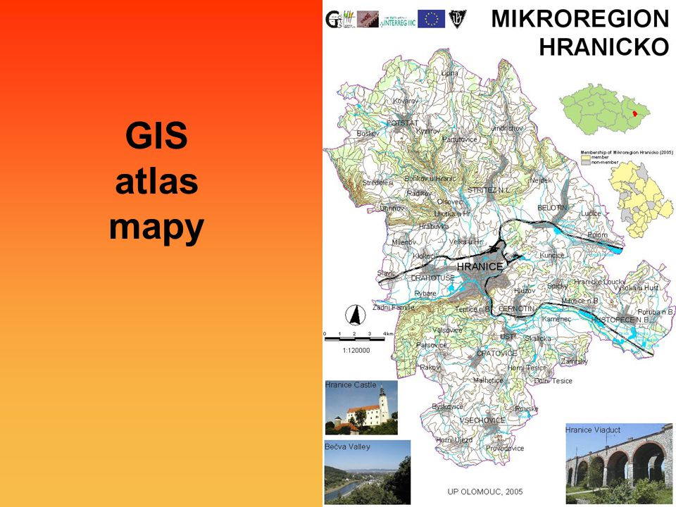 GIS atlas mapy