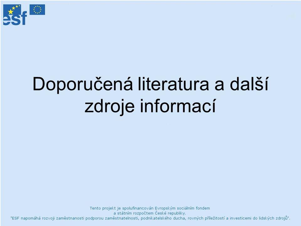 Doporučená literatura a další zdroje informací